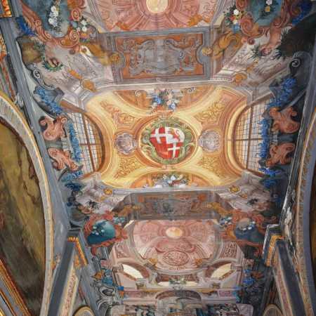 Plafond de corridor, Palais du Grand Maître, La Valette.